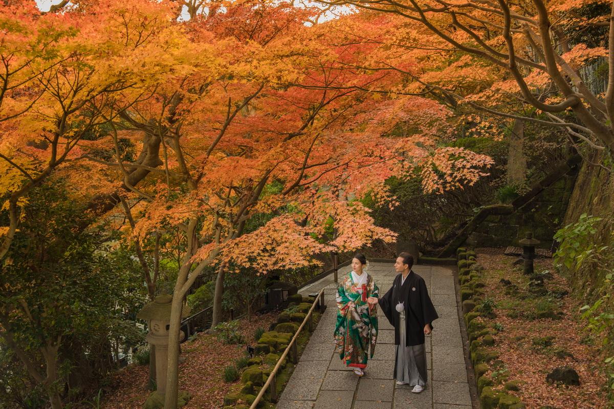 和装ロケーション撮影:長谷寺の紅葉