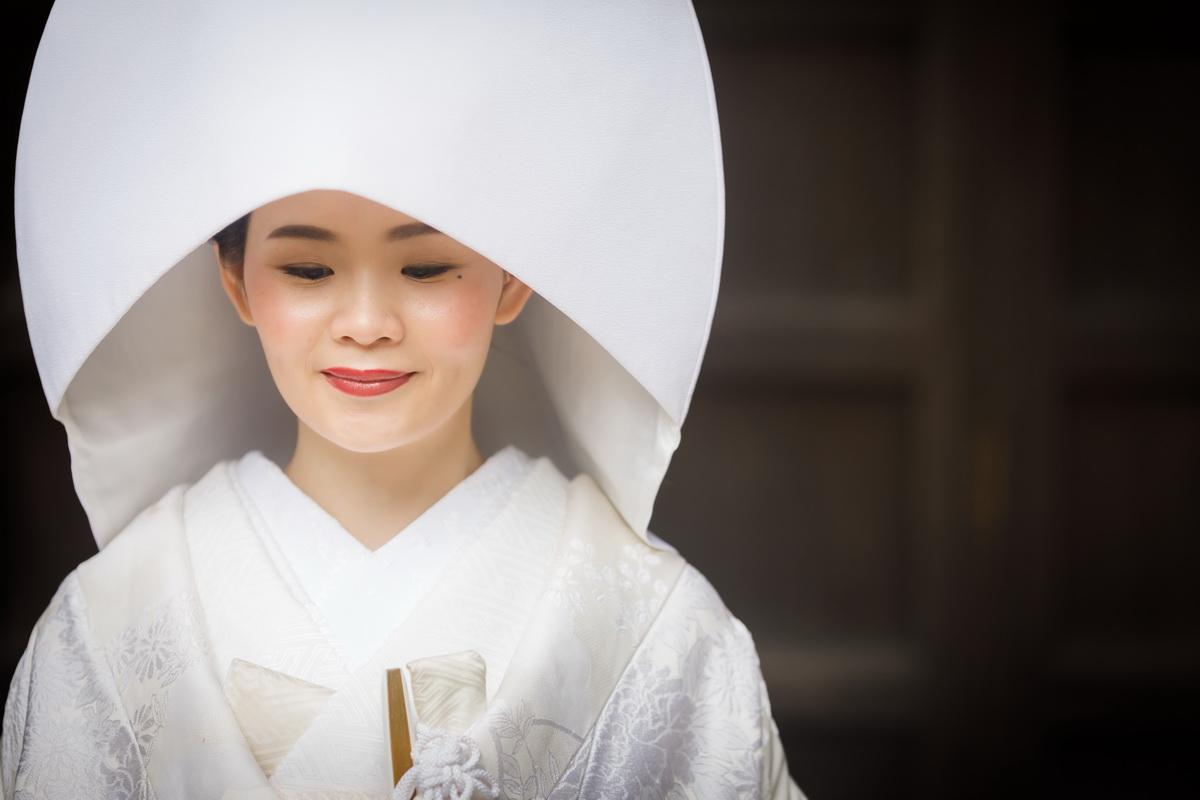 和装 白無垢 20200928撮影 竹林のお寺