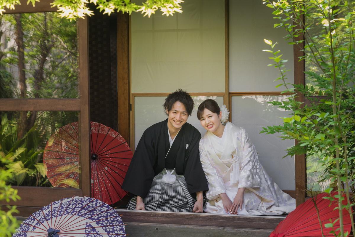 鎌倉 和装 前撮りお二人 縁サロン近辺
