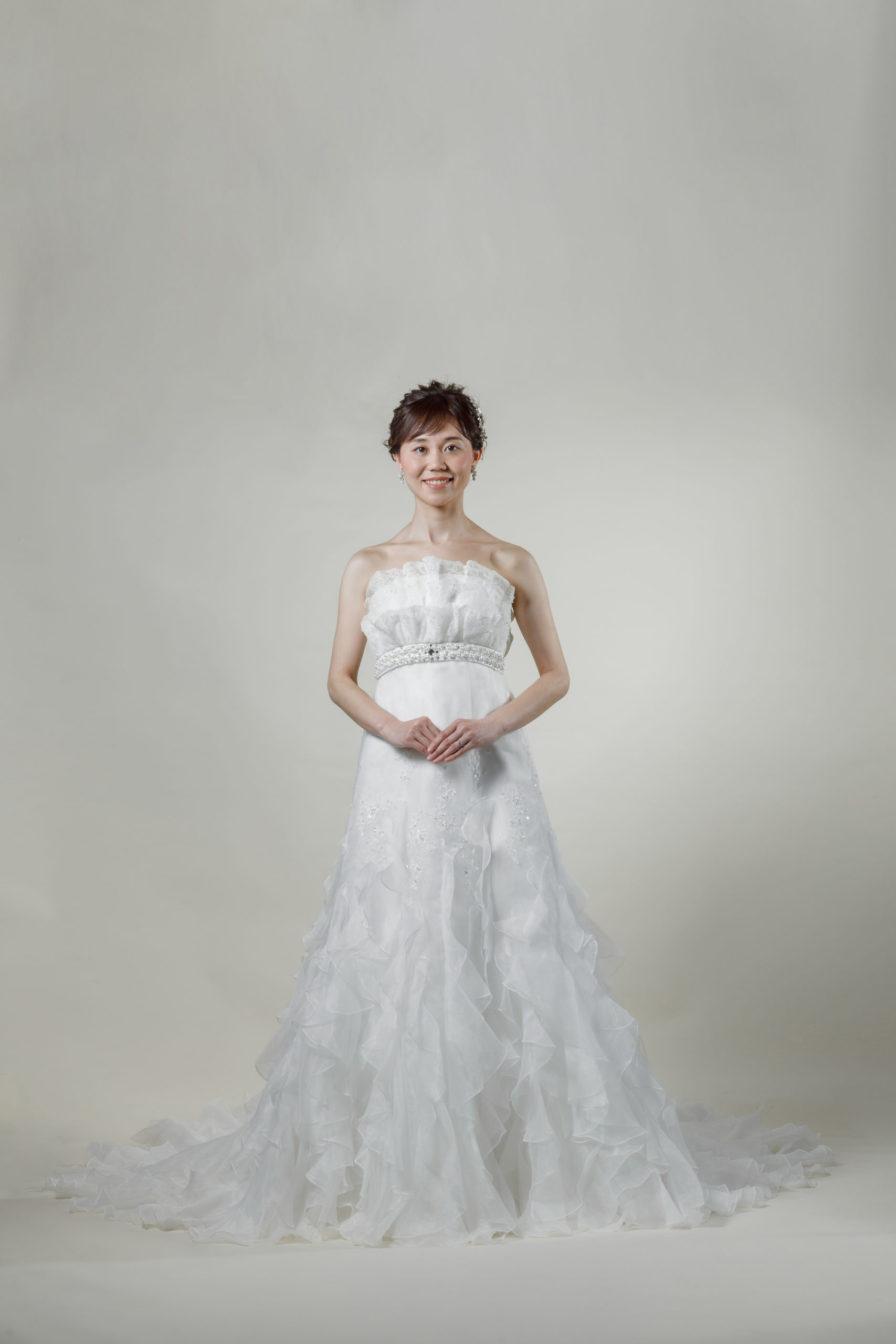 洋装 ウェディング ドレス 前撮り 正面向き画像 W917-A スタンダードコレクション