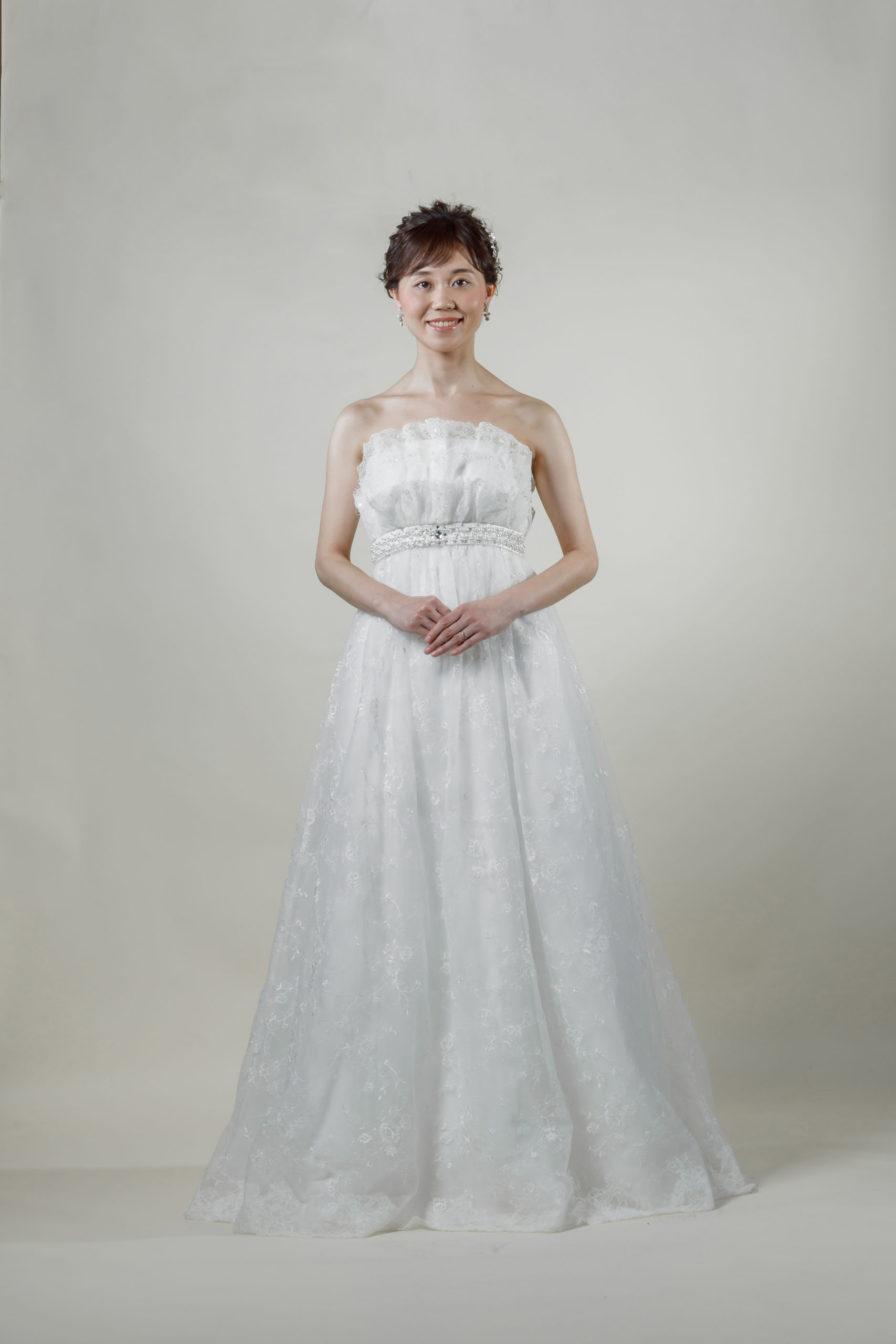 洋装 ウェディング ドレス 前撮り 正面向き画像 W917-B スタンダードコレクション