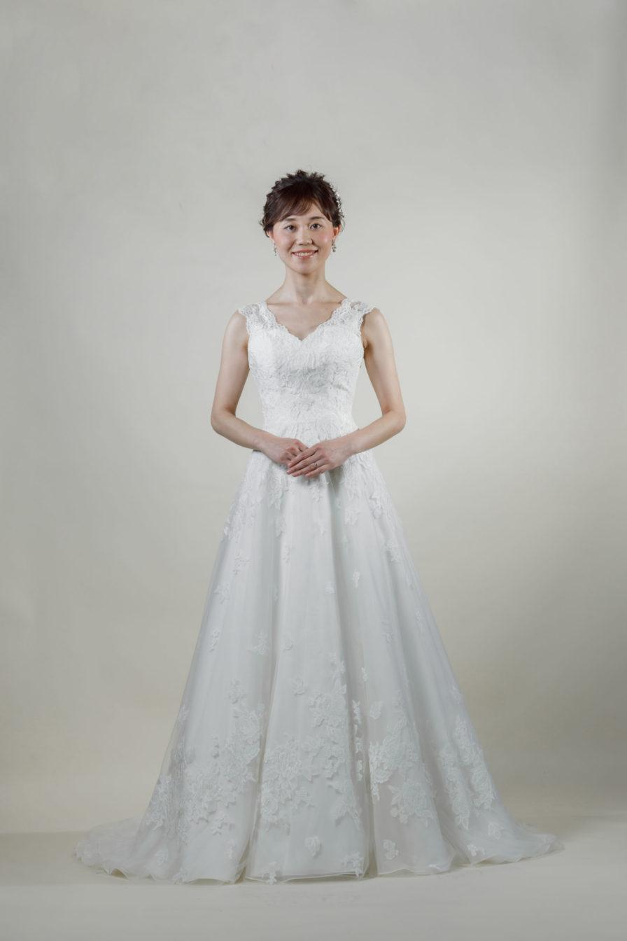 洋装 ウェディング ドレス 前撮り 正面向き画像 RI8014 ラグジュアリーコレクション