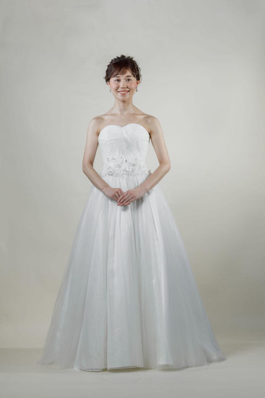 洋装 ウェディング ドレス 前撮り 正面向き画像 FR-17004A ラグジュアリーコレクション