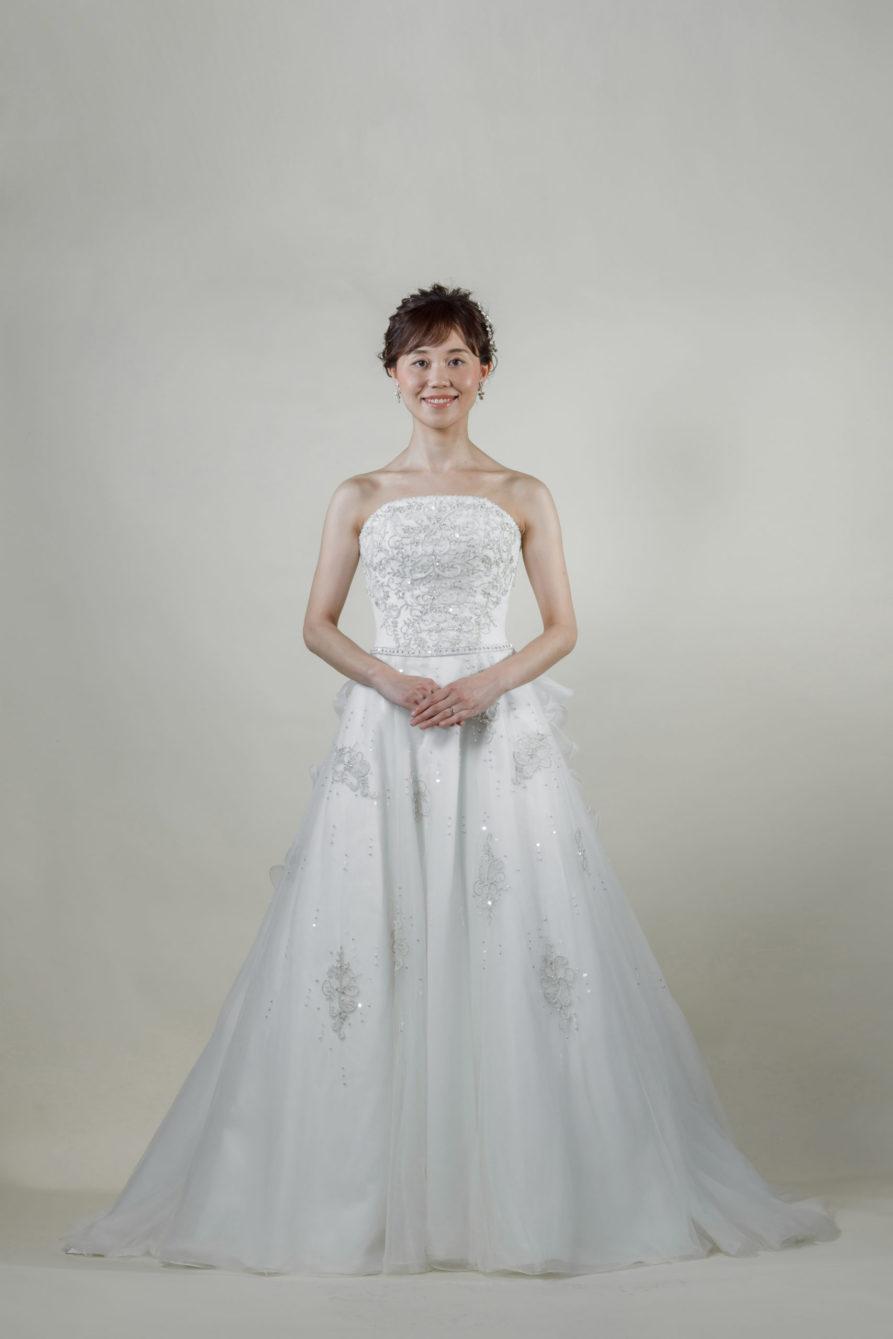 洋装 ウェディング ドレス 前撮り 正面向き画像 CA-609B ラグジュアリーコレクション