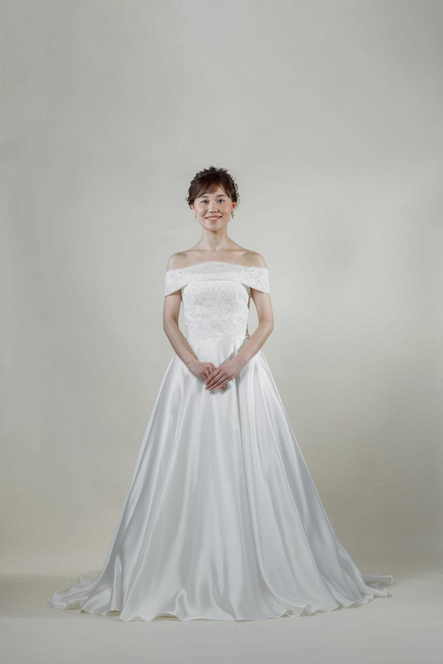 洋装 ウェディング ドレス 前撮り 正面向き画像 CR-1431-A ラグジュアリーコレクション