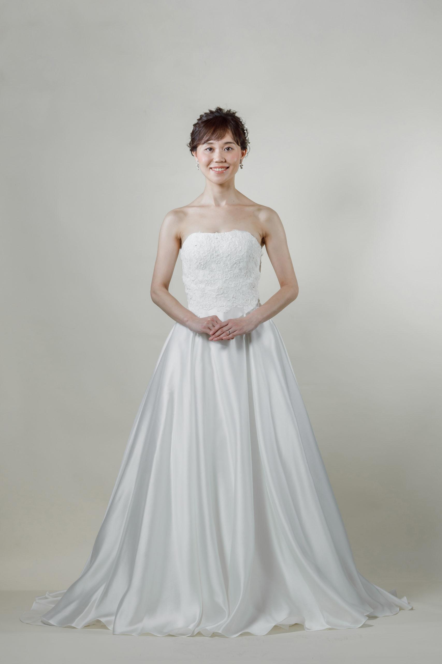 洋装 ウェディング ドレス 前撮り 正面向き画像 CR-1431-B ラグジュアリーコレクション