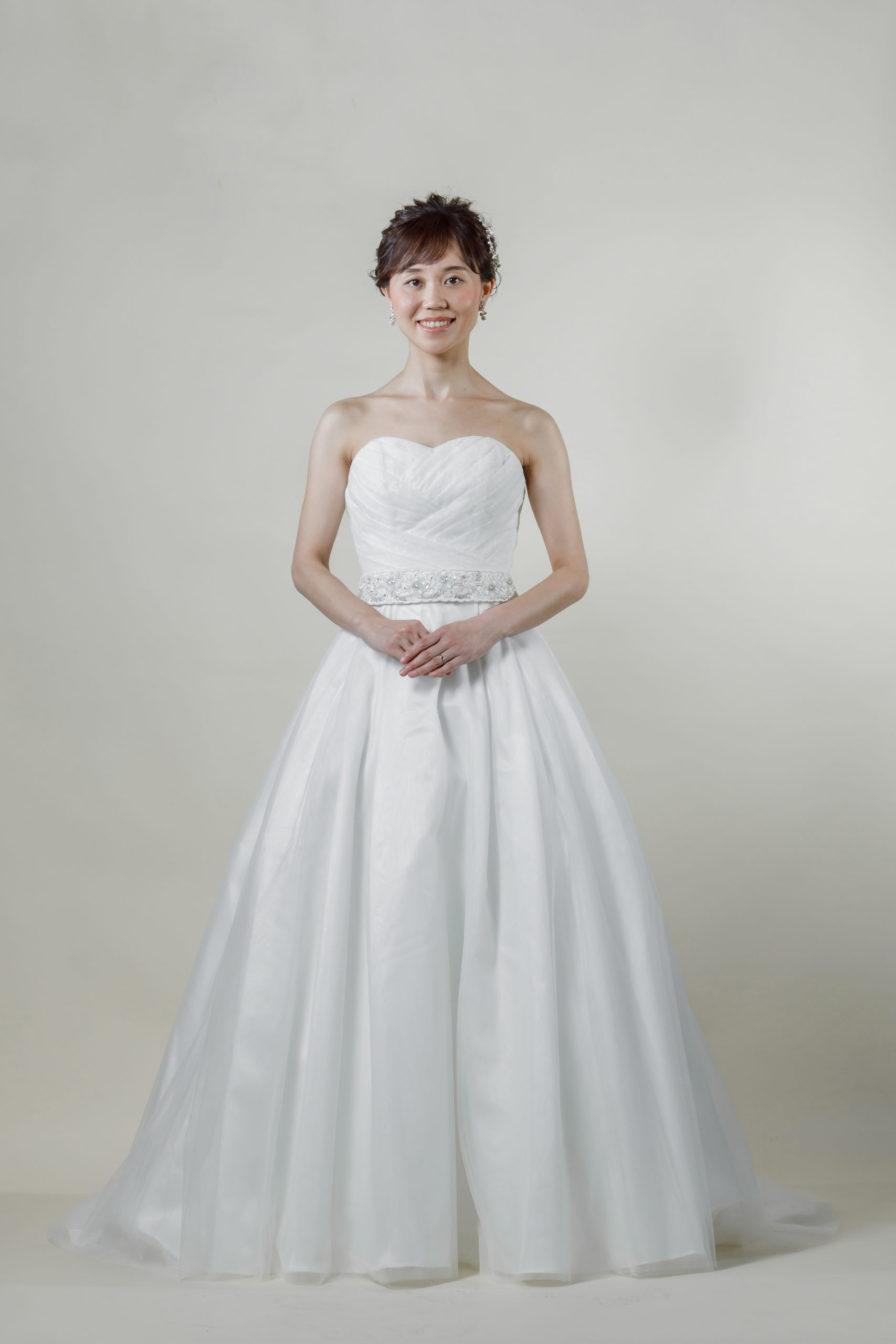 洋装 ウェディング ドレス 前撮り 正面向き画像 FR-17009A ラグジュアリーコレクション