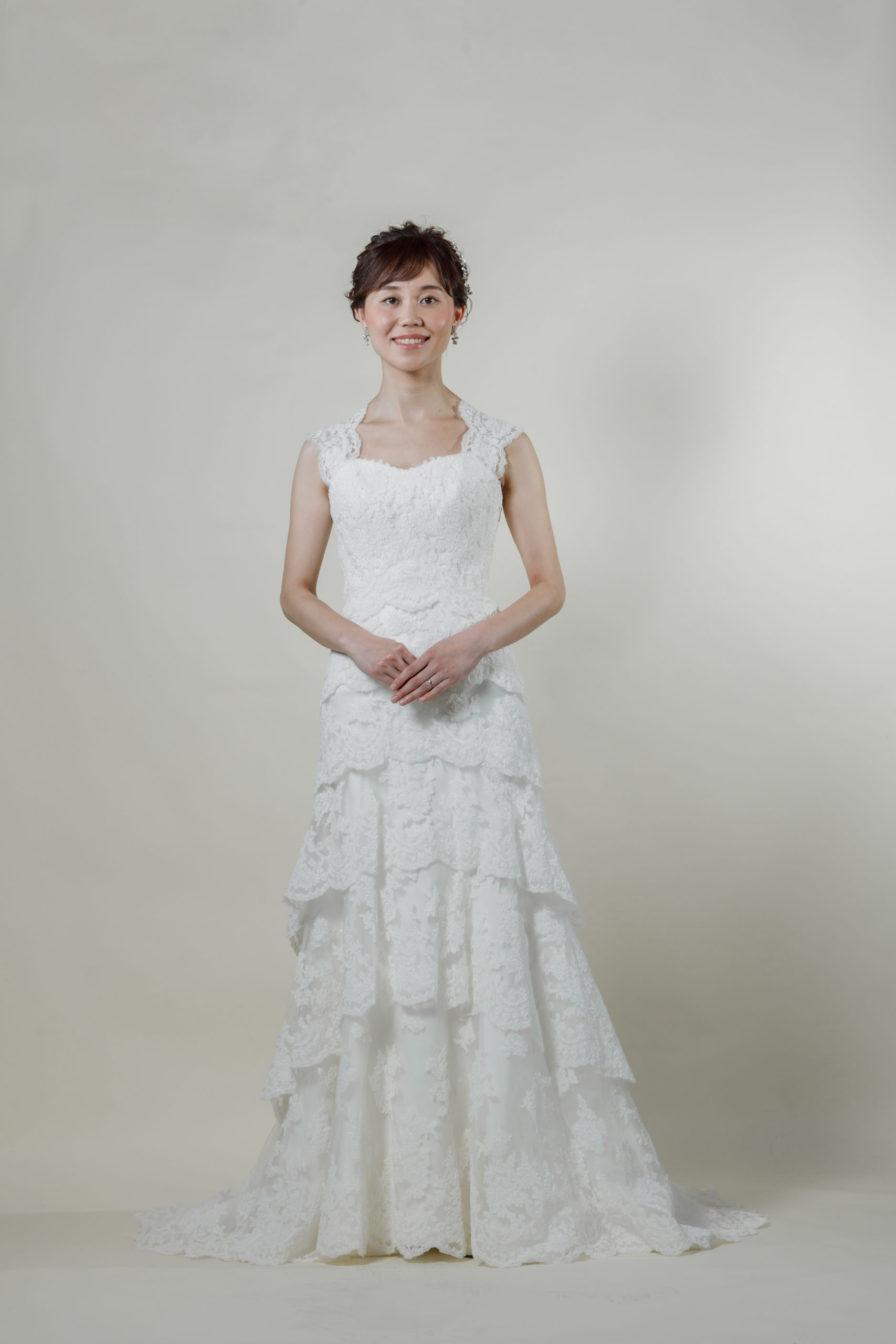 洋装 ウェディング ドレス 前撮り 正面向き画像 RI-8005A ラグジュアリーコレクション
