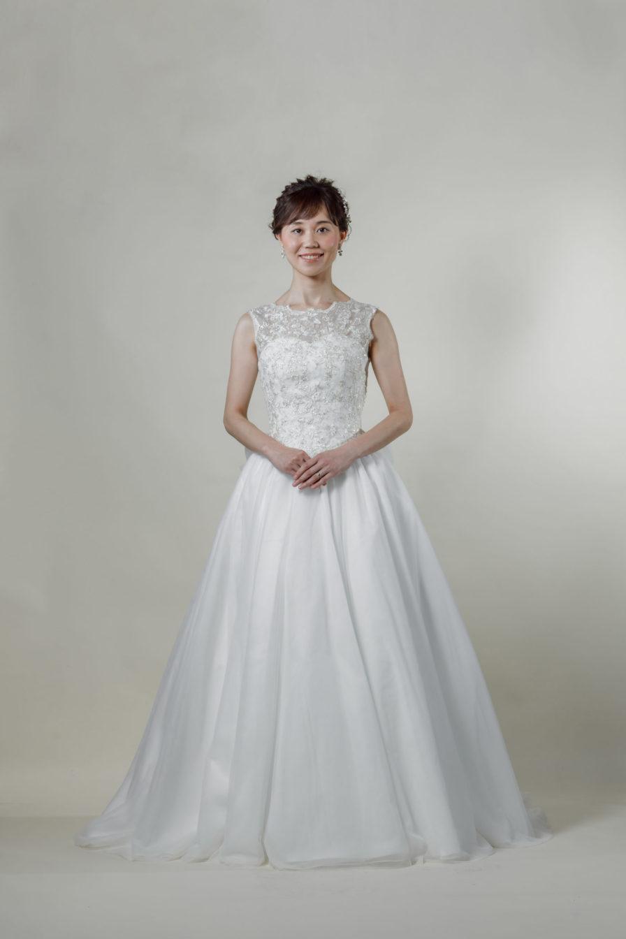 洋装 ウェディング ドレス 前撮り 正面向き画像 FR-15018B-A ラグジュアリーコレクション