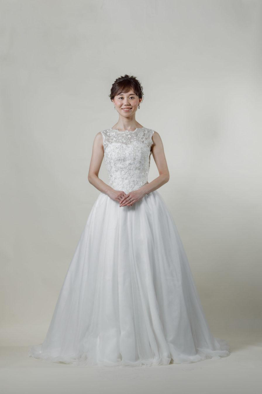 洋装 ウェディング ドレス 前撮り 正面向き画像 FR-15018B-B ラグジュアリーコレクション