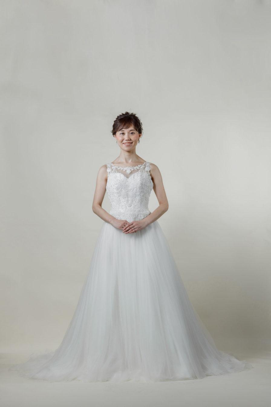 洋装 ウェディング ドレス 前撮り 正面向き画像 RI-8013 ラグジュアリーコレクション