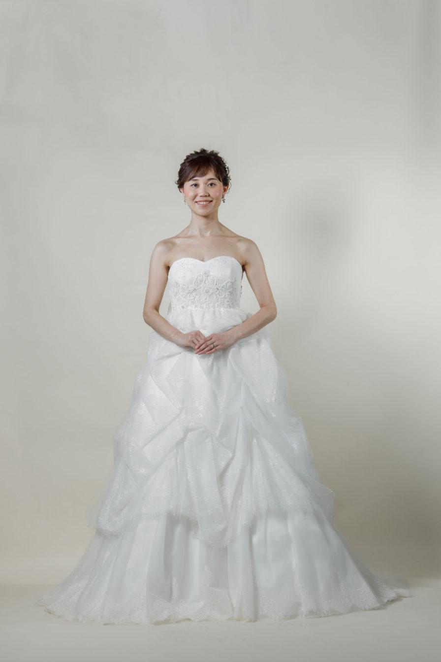 洋装 ウェディング ドレス 前撮り 正面向き画像 CH-5247 ラグジュアリーコレクション