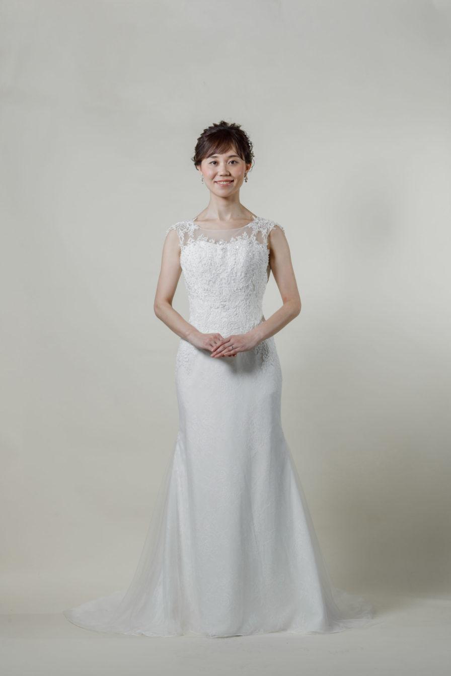洋装 ウェディング ドレス 前撮り 正面向き画像 RI-8004-A ラグジュアリーコレクション