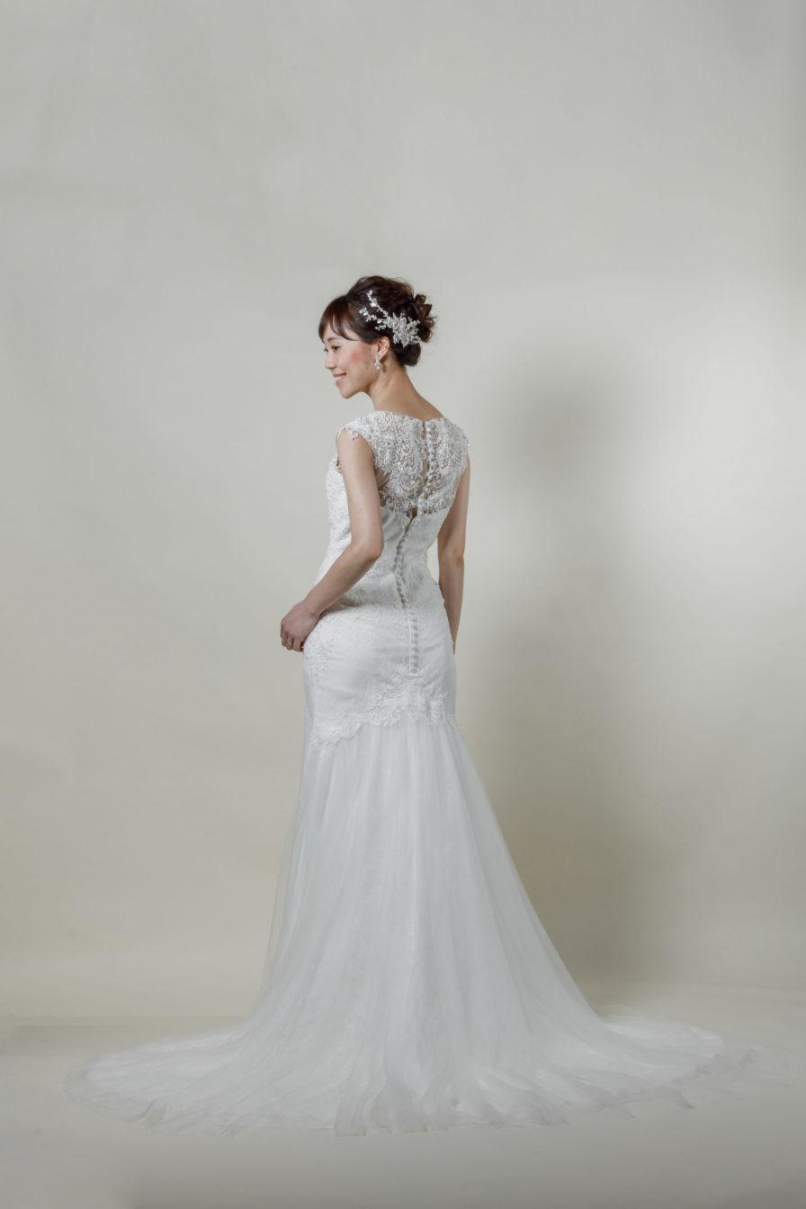洋装 ウェディング ドレス 前撮り 後ろ向き画像 RI-8004-A ラグジュアリーコレクション