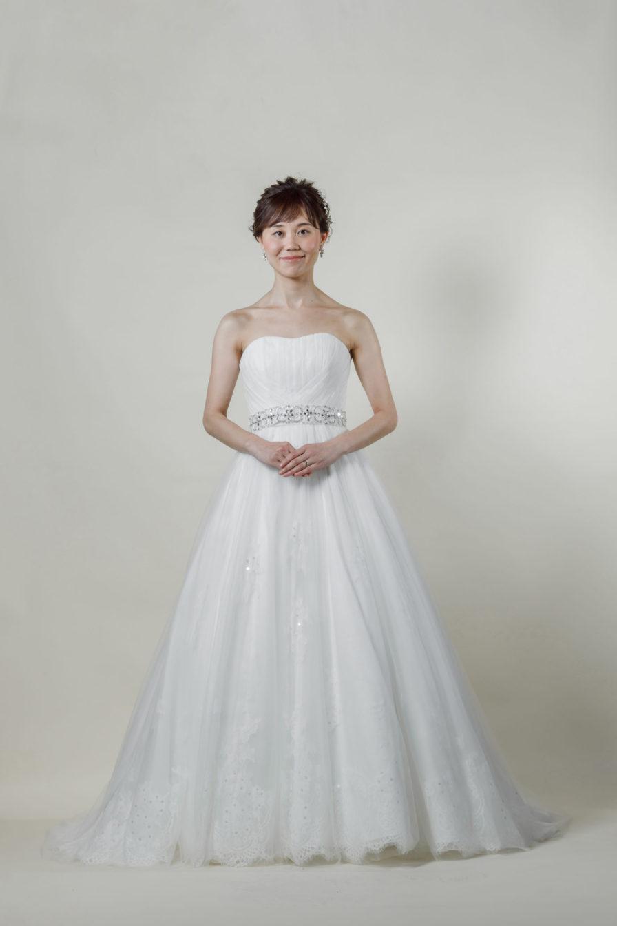 洋装 ウェディング ドレス 前撮り 正面向き画像 CA-606-A ラグジュアリーコレクション