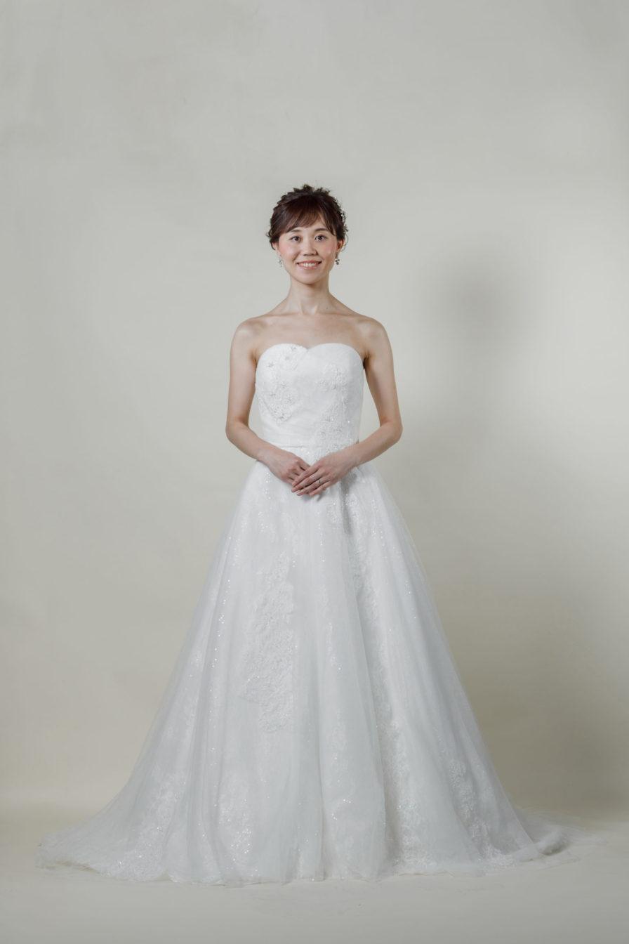 洋装 ウェディング ドレス 前撮り 正面向き画像 CR-1434 ラグジュアリーコレクション