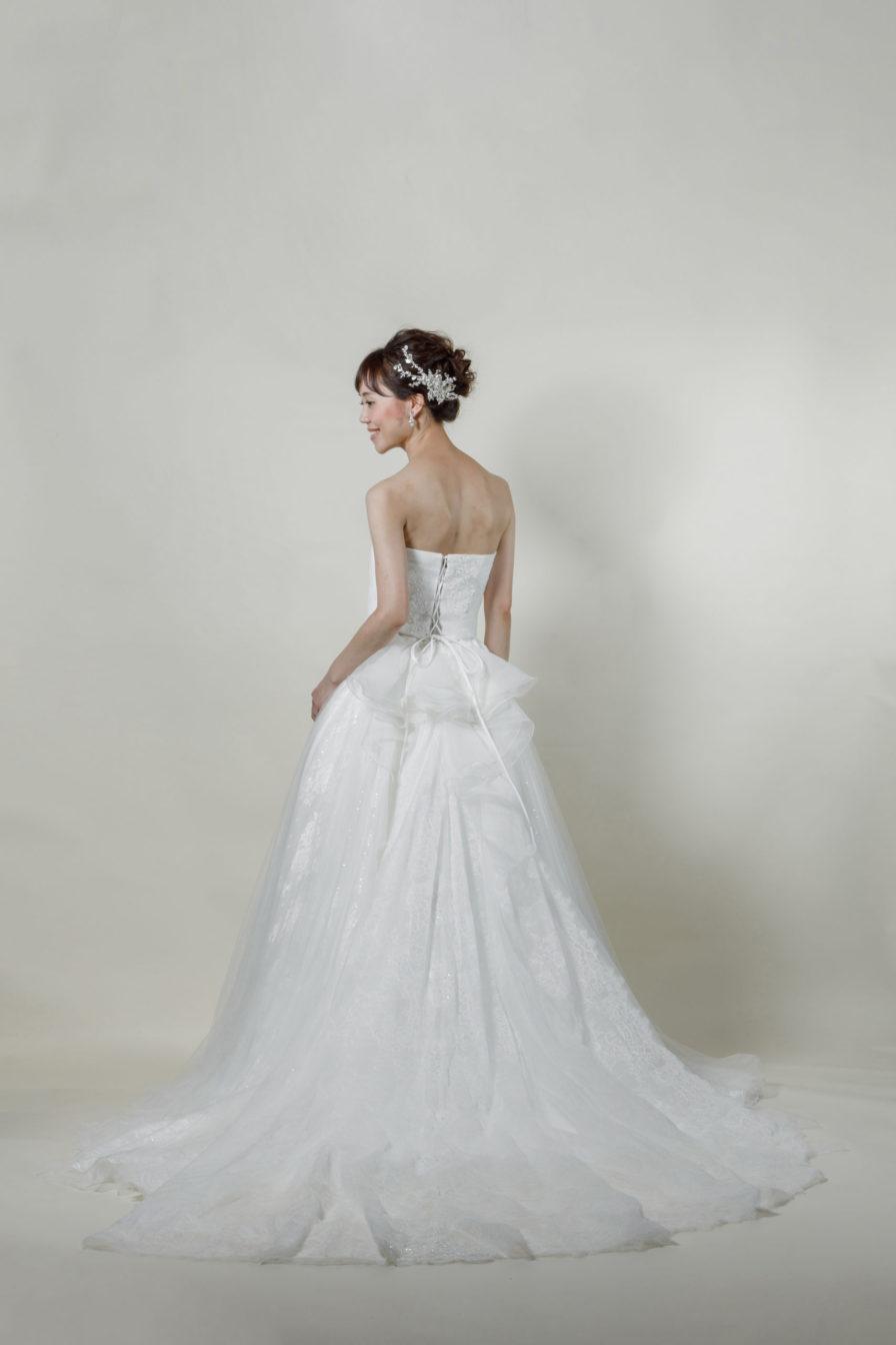 洋装 ウェディング ドレス 前撮り 後ろ向き画像 CR-1434 ラグジュアリーコレクション